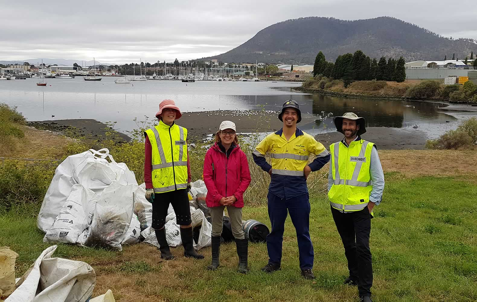 DEP team at the Business Clean Up Day 2019. Photo: Derwent Estuary Program.